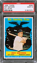 Baseball Cards:Singles (1950-1959), 1959 Topps Roy Sievers (All Star) #566 PSA Mint 9 - Only O...