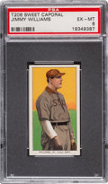 Baseball Cards:Singles (Pre-1930), 1909-11 T206 Sweet Caporal 150/30 Jimmy Williams PSA EX-MT 6 - Pop Two, Only One Higher for Brand/Series/Factory. ...