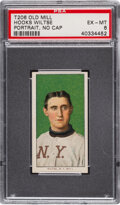 Baseball Cards:Singles (Pre-1930), 1909-11 T206 Old Mill Hooks Wiltse (Portrait, No Cap) PSA EX-MT 6 - Pop Two, One Higher for Brand. ...