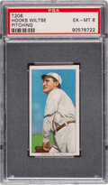 Baseball Cards:Singles (Pre-1930), 1909-11 T206 Piedmont 350-460/25 Hooks Wiltse (Pitching) PSA EX-MT 6 - Only One Higher for Brand/Series/Factory. ...