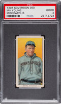 Baseball Cards:Singles (Pre-1930), 1909-11 T206 Sovereign 350 Irv Young PSA Good 2. ...
