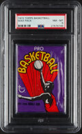 Basketball Cards:Unopened Packs/Display Boxes, 1972 Topps Basketball Unopened Wax Pack PSA NM-MT 8....