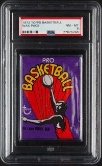 1972 Topps Basketball Unopened Wax Pack PSA NM-MT 8