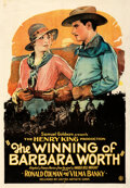 """Movie Posters:Western, The Winning of Barbara Worth (United Artists, 1926). Fine on Linen. One Sheet (28"""" X 41"""").. ..."""