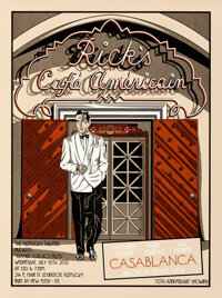 """Casablanca (Kentucky Theater, R-2012). Rolled, Very Fine+. Numbered and Signed Screen Print Poster (18"""" X 24"""")..."""