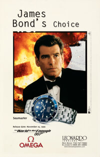 """The World is Not Enough (United International Pictures, 1999). Rolled, Very Fine+. Omega Watch Poster (21"""" X 33&quo..."""