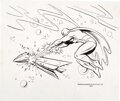 Animation Art:Concept Art, Space Ghost Concept Drawing by Alex Toth (Hanna-Barbera, 1966). ...