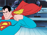 The New Adventures of Superman Production Cel and Production Background (Filmation, 1966). ... (Total: 2 Items)