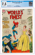 Silver Age (1956-1969):Superhero, World's Finest Comics #85 (DC, 1956) CGC VF- 7.5 White pages....
