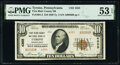 National Bank Notes:Pennsylvania, Tyrone, PA - $10 1929 Ty. 2 First Blair County National Bank Ch. # 4355 PMG About Uncirculated 53 EPQ.. ...