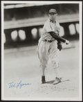 Autographs:Photos, Ted Lyons Signed Photograph and Index Card.... (Total: 2 item)