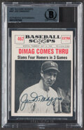 Autographs:Sports Cards, Signed 1961 Nu-Card Scoops Joe DiMaggio #467 Beckett Authentic Auto....