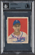 Autographs:Sports Cards, Signed 1949 Bowman Gil Hodges #100 Beckett Authentic Auto....