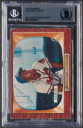 Autographs:Sports Cards, Signed 1955 Bowman Hank Aaron #179 Beckett Authentic Auto. ...