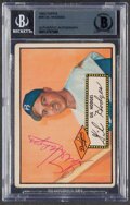 Autographs:Sports Cards, Signed 1952 Topps Gil Hodges #36 Beckett Authentic Auto....