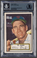 Autographs:Sports Cards, Signed 1952 Topps Al Dark #351 Beckett Authentic Auto....