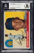 Autographs:Sports Cards, Signed 1955 Topps Harmon Killebrew #124 Beckett Authentic Auto....