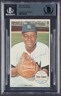 Autographs:Sports Cards, Signed 1964 Topps Giants Elston Howard #21, BAS....