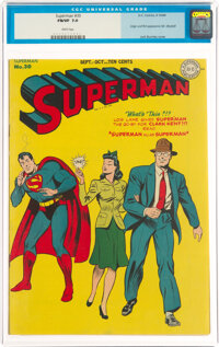 Superman #30 (DC, 1944) CGC FN/VF 7.0 White pages