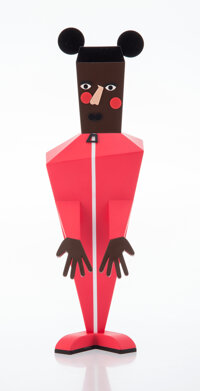 Nina Chanel Abney (b. 1982) Baby, 2020 Painted cast vinyl 10-1/4 x 3 x 3 inches (26 x 7.6 x 7.6 cm) Stamped to the u