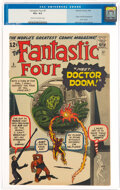 Silver Age (1956-1969):Superhero, Fantastic Four #5 (Marvel, 1962) CGC VG+ 4.5 Cream to off-white pages....