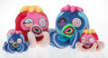 Collectible, Takashi Murakami (b. 1962). Blue Octopus: Mr. Camo and Red Octopus: Mr. Boiled (Regular and Mini) (set of 4), c. 201... (Total: 4 Items)