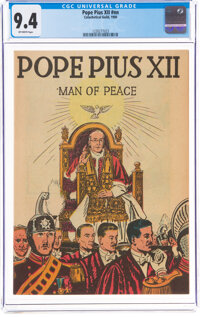 Topix V2#8 Pope Pius XII (Catechetical Guild, 1950) CGC NM 9.4 Off-white pages