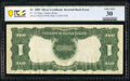 Error Notes:Inverted Reverses, Inverted Back Error Fr. 232 $1 1899 Silver Certificate PCGS Banknote Very Fine 30.. ...