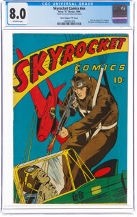 """Skyrocket #nn Davis Crippen """"D"""" Copy Pedigree (Harry 'A' Chesler, 1944) CGC VF 8.0 Off-white pages"""