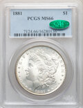1881 $1 MS66 PCGS. CAC. PCGS Population: (213/6). NGC Census: (58/3). CDN: $1,200 Whsle. Bid for NGC/PCGS MS66. Mintage...