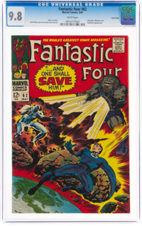 Fantastic Four #62 Twin Cities Pedigree (Marvel, 1967) CGC NM/MT 9.8 White pages