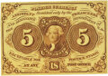Fr. 1231 5¢ First Issue PMG Choice Uncirculated 64 EPQ
