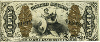 Fr. 1369 50¢ Third Issue Justice PMG About Uncirculated 55