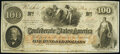Confederate Notes:1862 Issues, T41 $100 1862 PF-15 Cr. 316 Very Fine.. ...