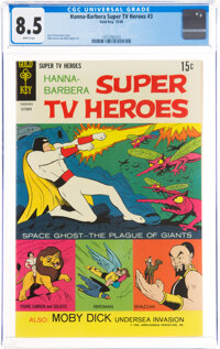 Hanna-Barbera Super TV Heroes #3 (Gold Key, 1968) CGC VF+ 8.5 White pages