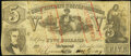Confederate Notes:1861 Issues, CT37/284A Counterfeit $5 1861 Fine.. ...