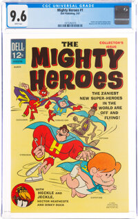 Mighty Heroes #1 (Dell, 1967) CGC NM+ 9.6 White pages