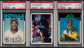 Baseball Cards:Lots, 1986-94 Fleer Update & Topps Traded PSA Graded Trio (3) - Canseco, Jackson & Rodriguez.... (Total: 3 items)