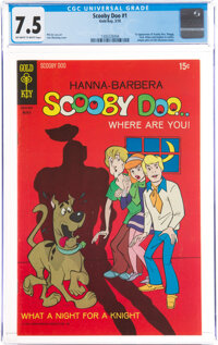 Scooby Doo #1 (Gold Key, 1970) CGC VF- 7.5 Off-white to white pages