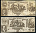Confederate Notes:1861 Issues, CT20/141 $20 1861 Crisp Uncirculated;. CT20/142 $20 1861 Fine.. ... (Total: 2 notes)