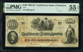 Confederate Notes:1862 Issues, T41 $100 1862 PF-20 Cr. 316A PMG About Uncirculated 55 EPQ.. ...