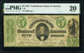 Confederate Notes:1861 Issues, T33 $5 1861 PF-10 Cr. 254Bb PMG Very Fine 20.. ...