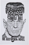 Music Memorabilia:Posters, Seaweed 1992 OK Hotel Concert Poster Signed by Designer Jeff Kleinsmith. ...