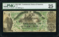 Confederate Notes:1861 Issues, T17 $20 1861 PF-2 Cr. UNL PMG Very Fine 25.. ...