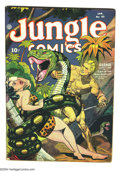 Golden Age (1938-1955):Adventure, Jungle Comics #49 (Fiction House, 1944) Condition VG-. Jim Mooney, George Tuska, Henry Kiefer, Saul Rosen, Richard Case, and...