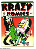 Golden Age (1938-1955):Funny Animal, Krazy Komics #3 (Timely, 1942) Condition: FN. Overstreet 2003 FN6.0 value = $60....