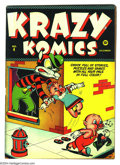 Golden Age (1938-1955):Funny Animal, Krazy Komics #4 (Timely, 1942) Condition: FN+. Overstreet 2003 FN6.0 value = $60....