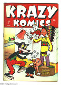 Golden Age (1938-1955):Funny Animal, Krazy Komics #7 (Timely, 1943) Condition: FN. Overstreet 2003 FN6.0 value = $60....
