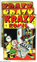 Golden Age (1938-1955):Funny Animal, Krazy Komics Group (Timely, 1943) Condition: VG-. This groupincludes #10, 13, and 14. Overstreet 2003 value for group = $12...(Total: 3 Comic Books Item)
