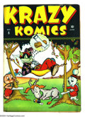 Golden Age (1938-1955):Funny Animal, Krazy Komics #8-9 Group (Timely, 1943) Condition: VG-. Overstreet2003 value for group = $80. ... (Total: 2 Comic Books Item)